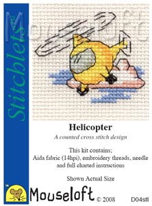 Helicopter -  Cross Stitch Kit
