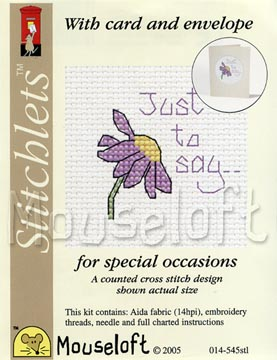 Just to Say -  Cross Stitch Kit