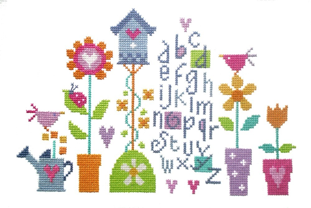 Pretty Garden Sampler -  Cross Stitch Kit
