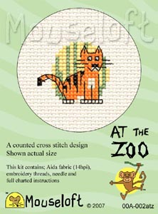 Mouseloft Tiger Cross Stitch Kit