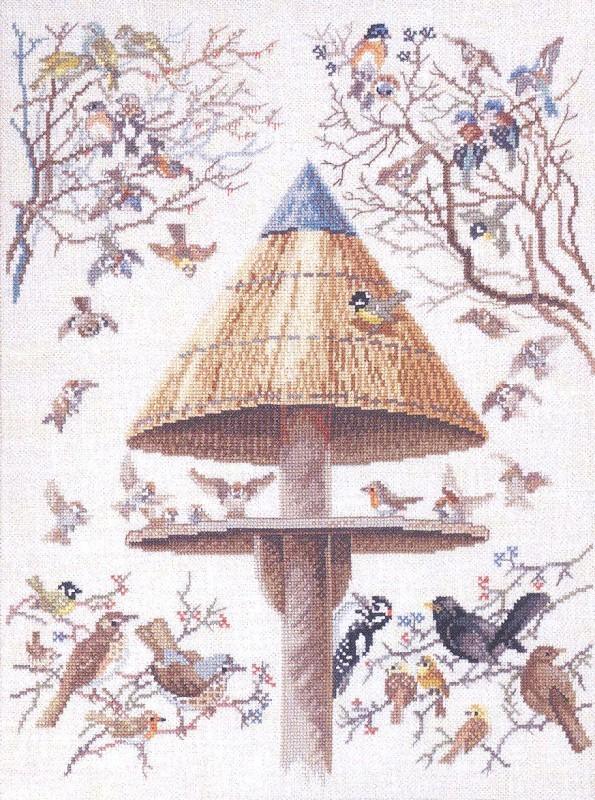 Eva Rosenstand Thatched Bird Table Cross Stitch Kit