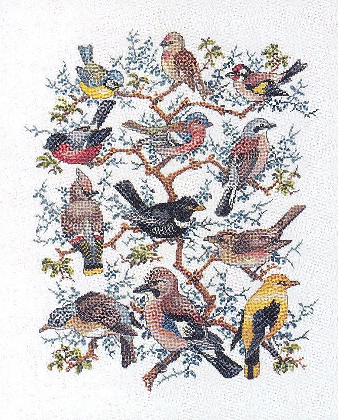 The Bird Tree -  Cross Stitch Kit