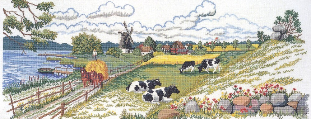 Countryside - Aida -  Cross Stitch Kit