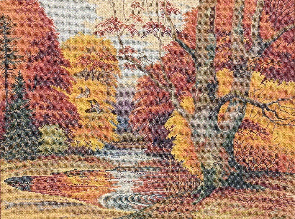 Autumn Colours -  Cross Stitch Kit