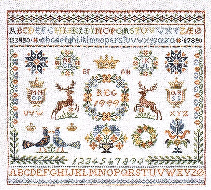 Traditional Crest Sampler -  Cross Stitch Kit