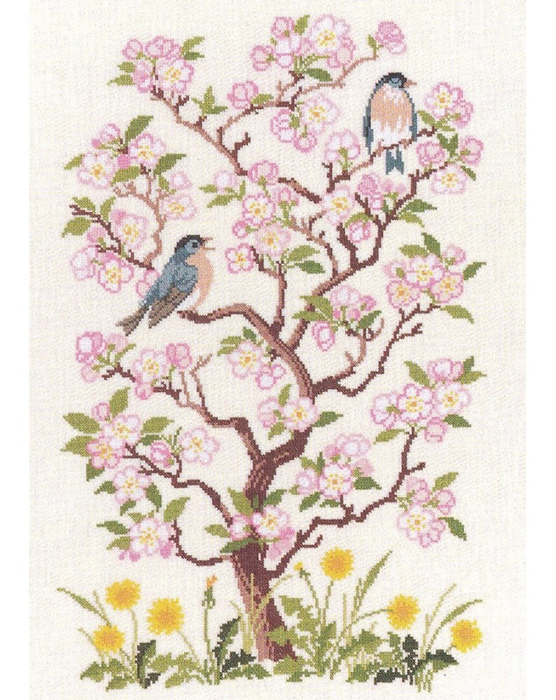 Birds and Blossoms -  Cross Stitch Kit