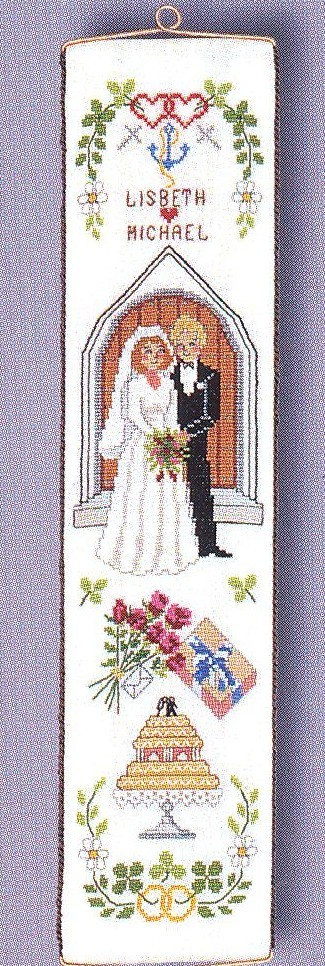 Wedding Bellpull -  Cross Stitch Kit