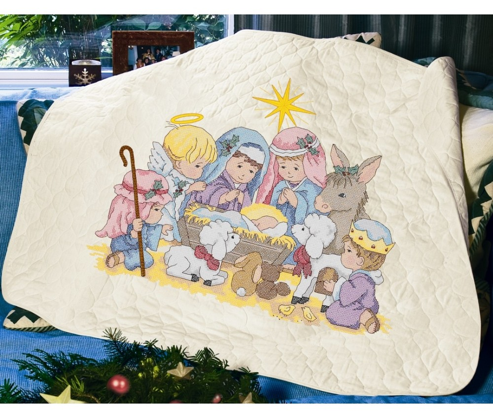 Nativity Quilt -  Christmas Cross Stitch Kit