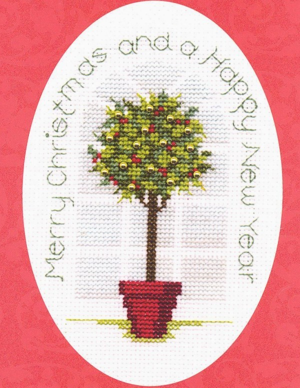 Holly Tree -  Christmas Cross Stitch Kit