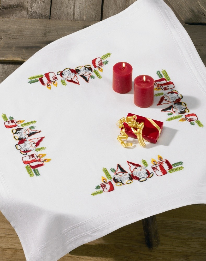 Permin Elves and Candles Tablecloth Embroidery Kit