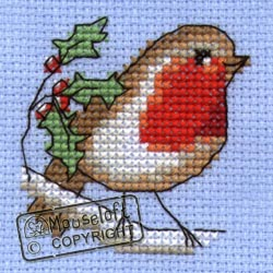 Mouseloft Robin Christmas Card Making Cross Stitch Kit