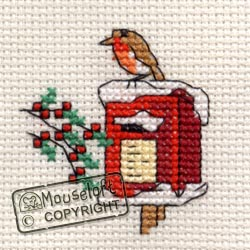 Robin on Postbox -  Christmas Cross Stitch Kit