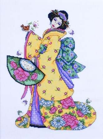 Golden Geisha -  Cross Stitch Kit