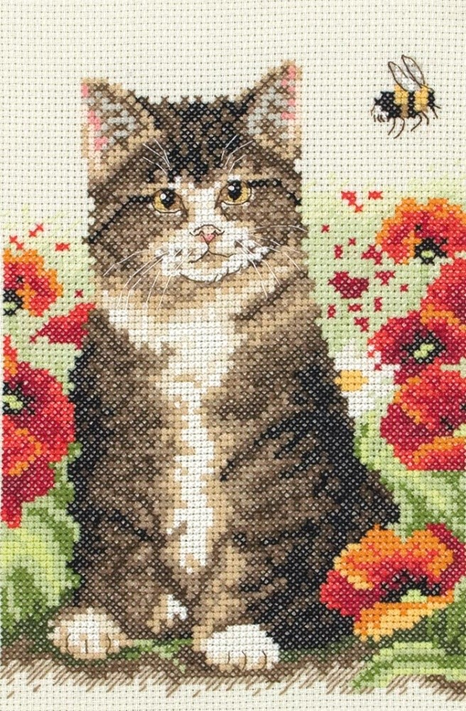 Anchor Cat and Bee Cross Stitch Kit