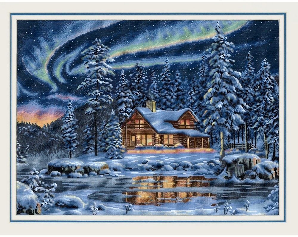 Dimensions Aurora Cabin Cross Stitch Kit