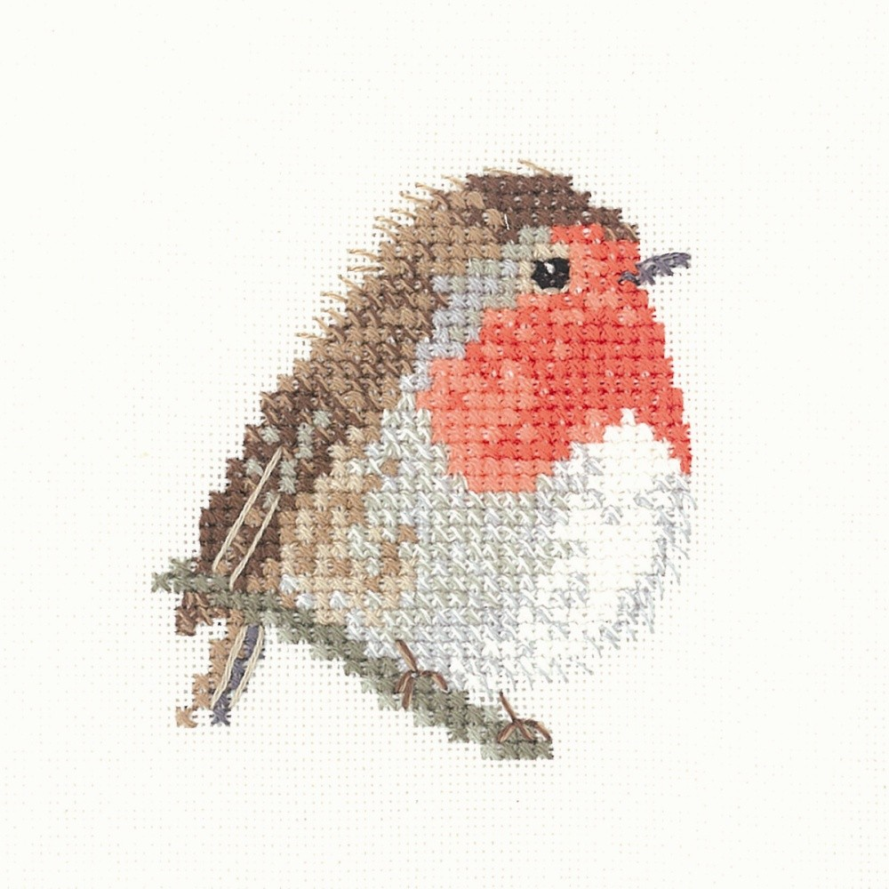 Robin - Evenweave -  Christmas Cross Stitch Kit