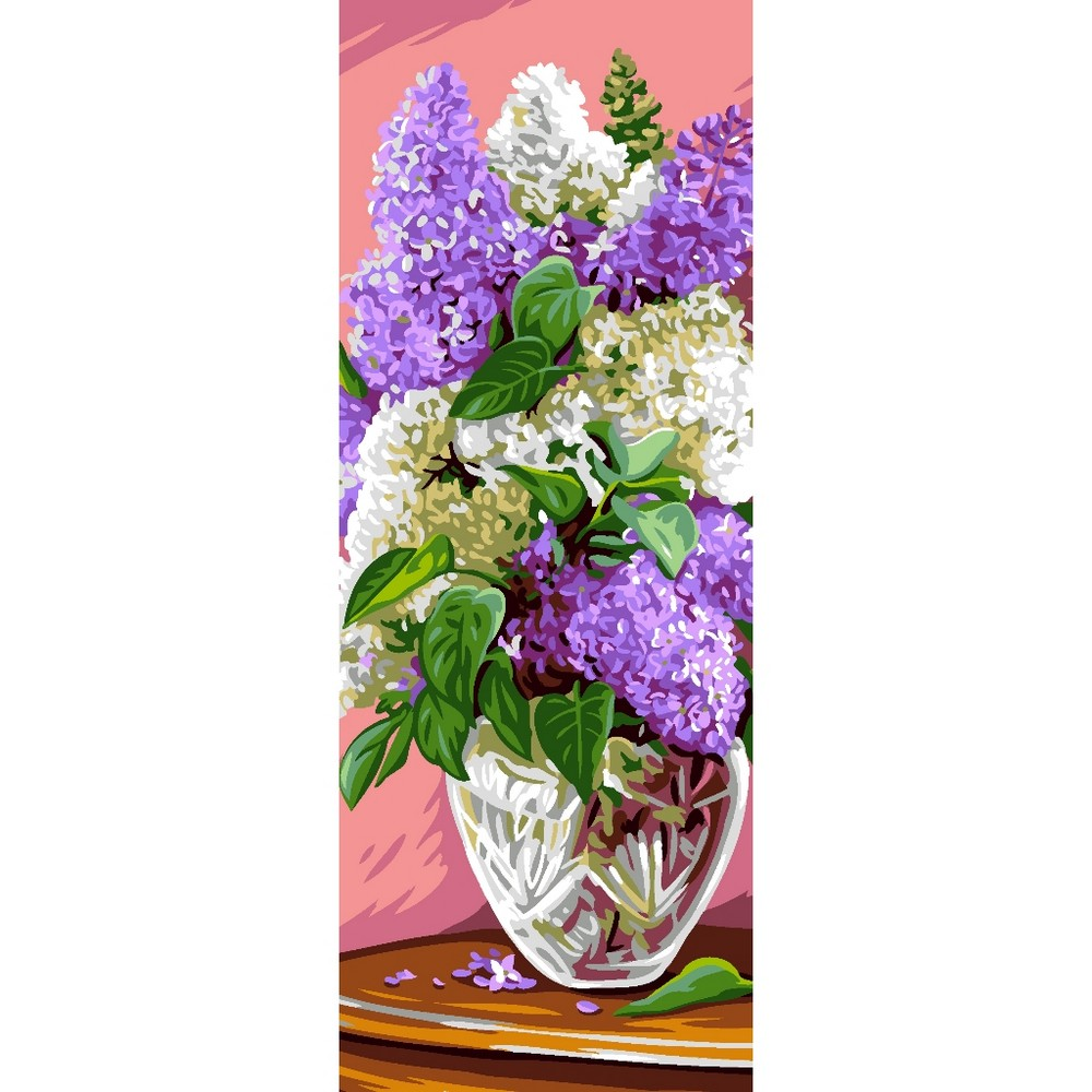 Lilac Bouquet -  Tapestry Canvas