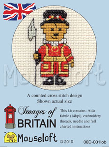 Beefeater Teddy -  Cross Stitch Kit