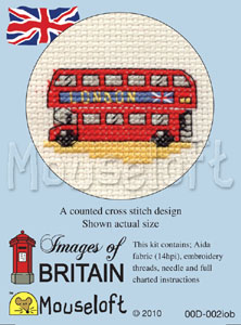 London Bus -  Cross Stitch Kit