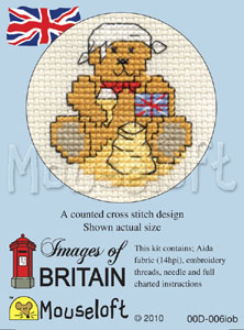 Teddy at the Beach -  Cross Stitch Kit