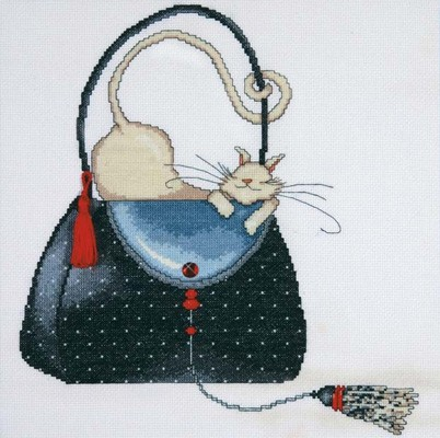Polka Dot Bag -  Cross Stitch Kit