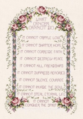 Janlynn What Cancer Cannot Do Cross Stitch Kit