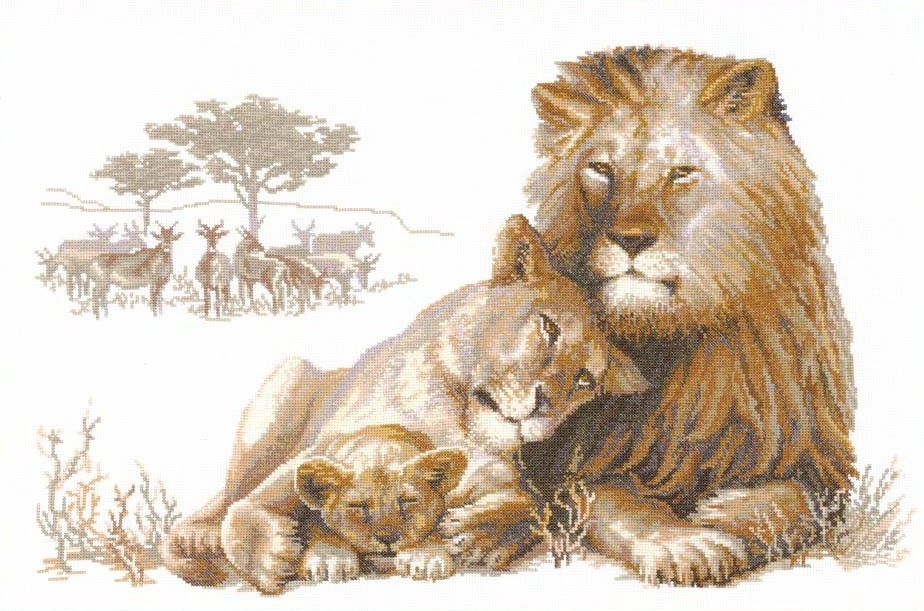 The Lion Paradise -  Cross Stitch Kit