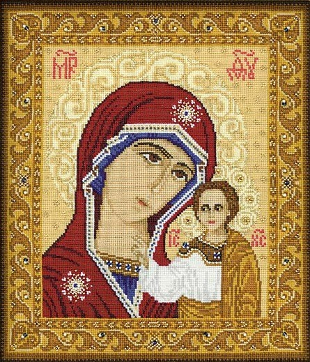 Our Lady of Kazan -  Cross Stitch Kit