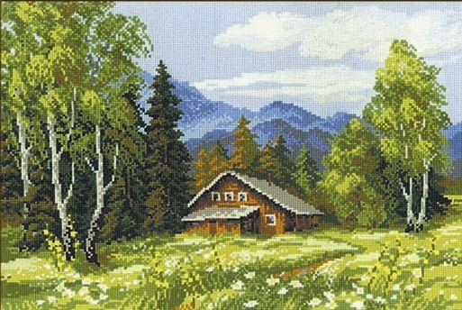 RIOLIS Swiss Chalet Cross Stitch Kit