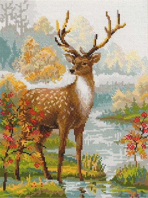 RIOLIS Deer Cross Stitch Kit