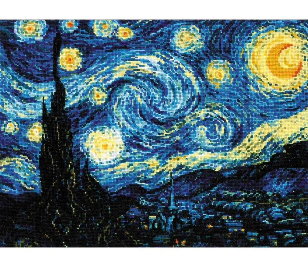 Van Gogh - Starry Night -  Cross Stitch Kit
