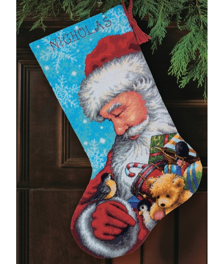 Santa and Toys Stocking -  Christmas Tapestry Kit