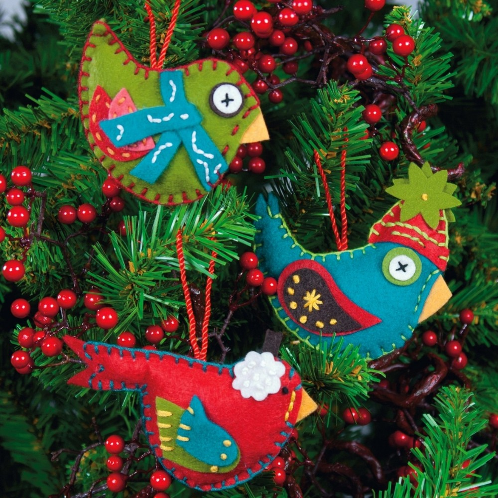 Dimensions Whimsical Birds Christmas Craft Kit