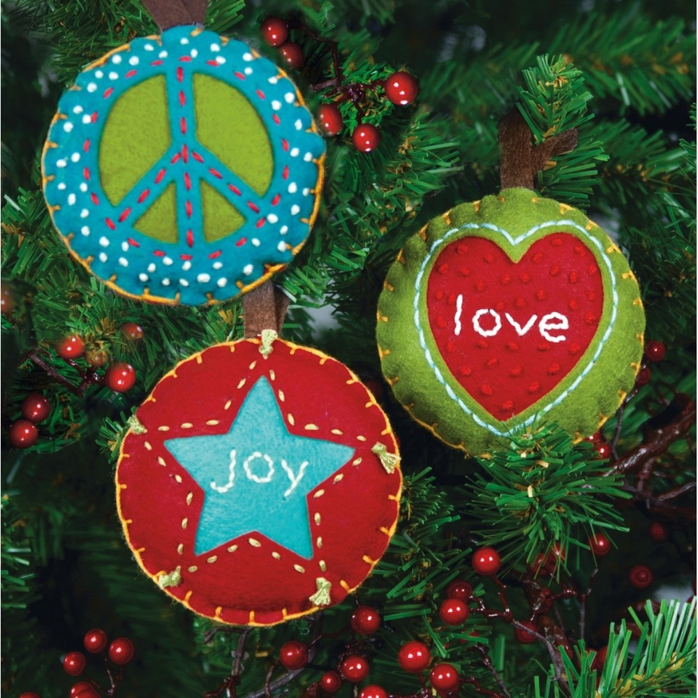 Dimensions Peace Love and Joy Christmas Craft Kit