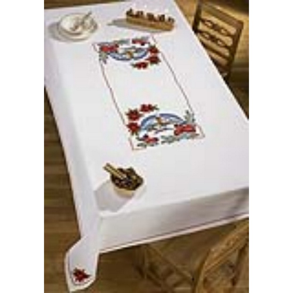 Permin Winter Church Tablecloth Christmas Cross Stitch Kit