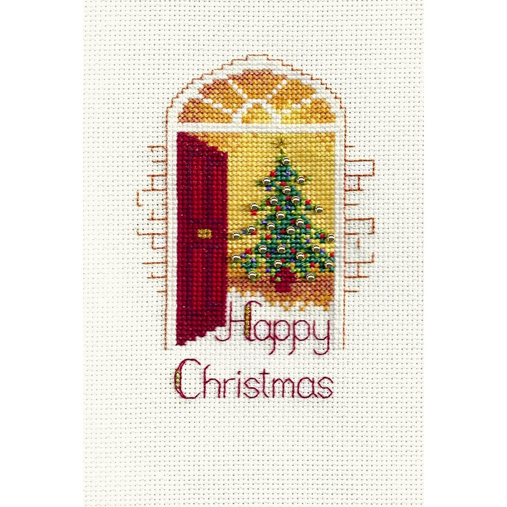 Derwentwater Designs Warm Welcome Christmas Card Making Cross Stitch Kit