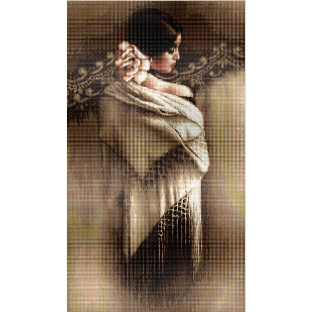 Luca-S Spanish Lady with Shawl Cross Stitch Kit