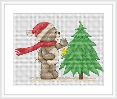 Time to Decorate the Tree -  Cross Stitch Kit