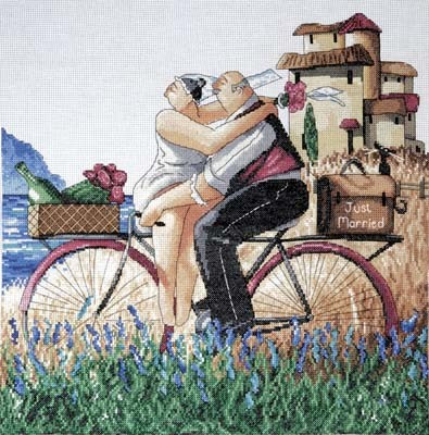 Just Married -  Cross Stitch Kit