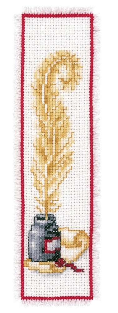 Quill and Ink Bookmark -  Cross Stitch Kit