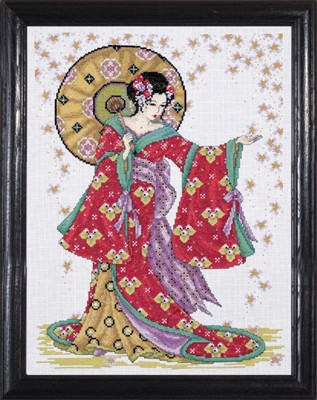 Red Geisha -  Cross Stitch Kit