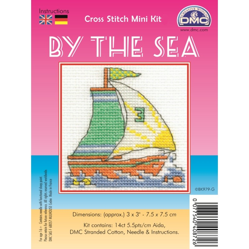 DMC Sailing Boat Cross Stitch Kit