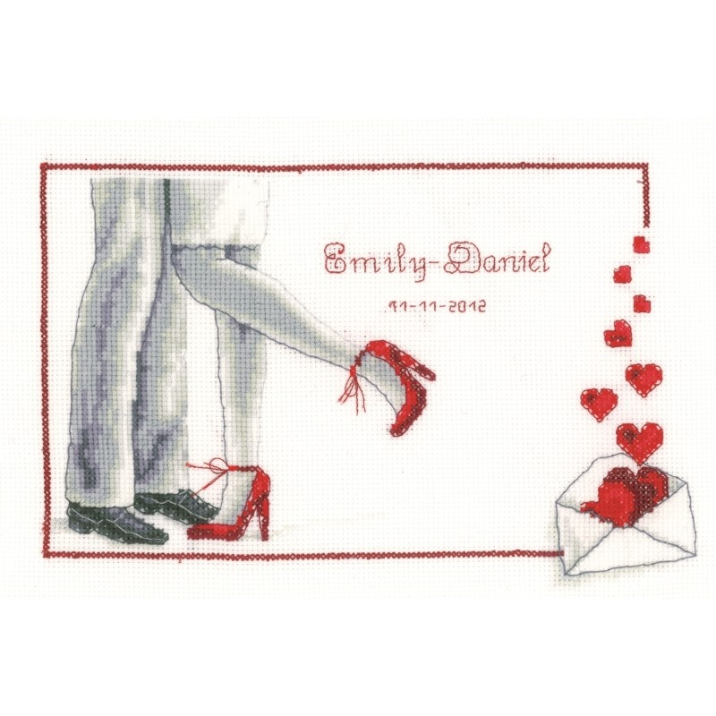 First Dance Wedding Record -  Cross Stitch Kit