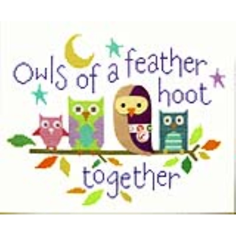 Owls of a Feather -  Cross Stitch Kit