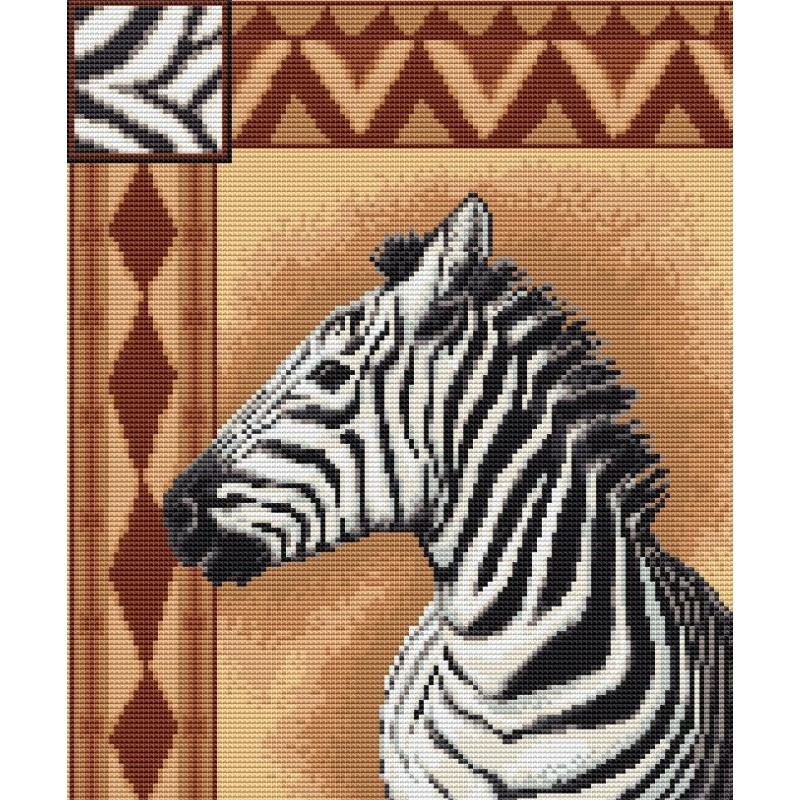 Zebra -  Cross Stitch Kit