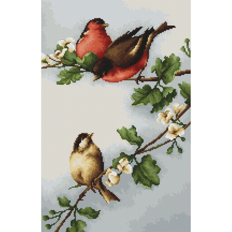 Luca-S Birds on Branch Cross Stitch Kit