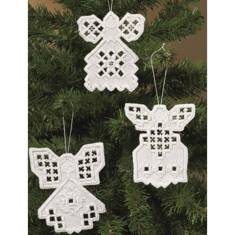 Permin Hardanger Angels I Embroidery Kit