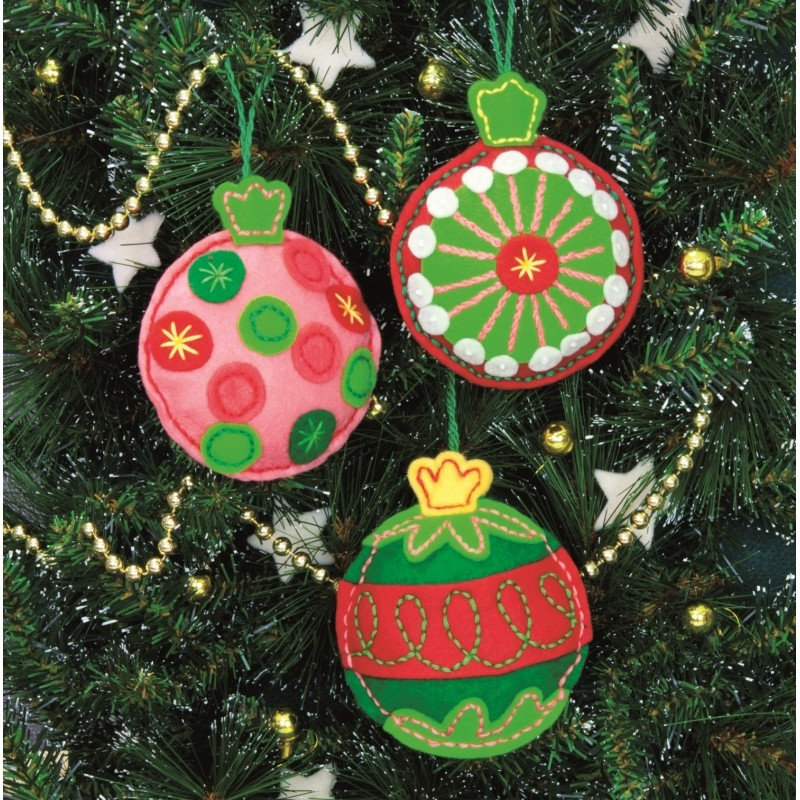 Dimensions Simple Cheer Ornaments Christmas Craft Kit