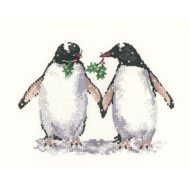 Heritage Christmas Penguins - Evenweave Cross Stitch Kit