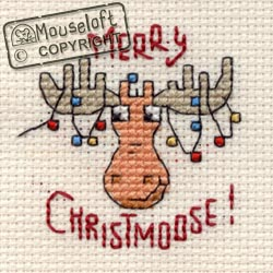 Mouseloft Merry Christmoose Christmas Card Making Cross Stitch Kit